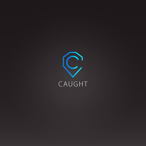Caught logo design