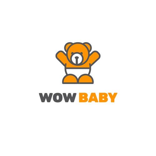 Wow Baby logo design
