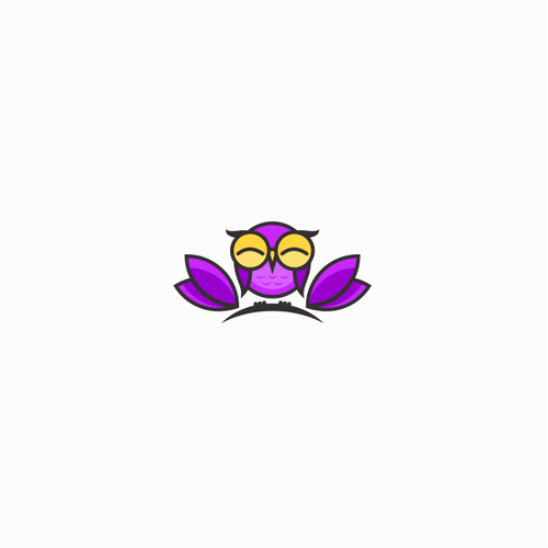 Logo design for Violet Owl Wellness