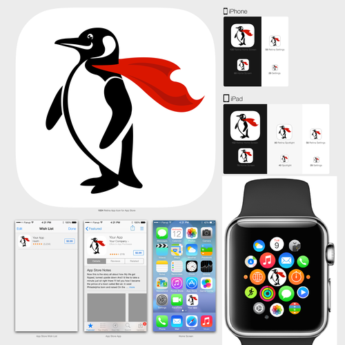 Create app icon set for mobile and Apple Watch consumer startup