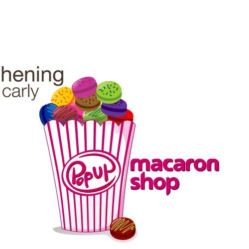 Macaron Popup Shop Logo!