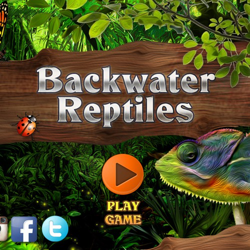 Backwater Reptiles - Interface Design