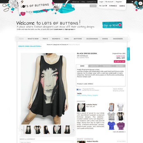 Lots Of Buttons - online fashion store.