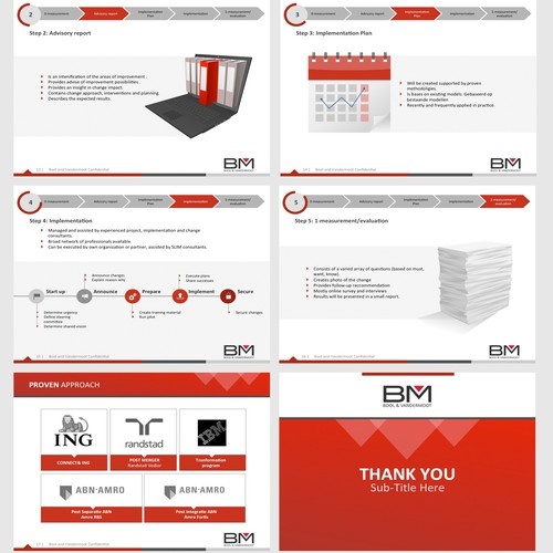 Powerpoint Presentation with custom theme  and logo for a Consultancy