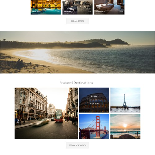 Create website design for a new disruptive hotel booking site!