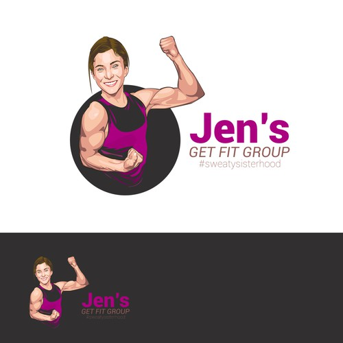 vector art for the fitness company