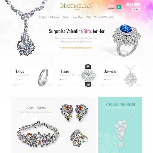 Creating Web Page for Maximilian Jewellery Website!