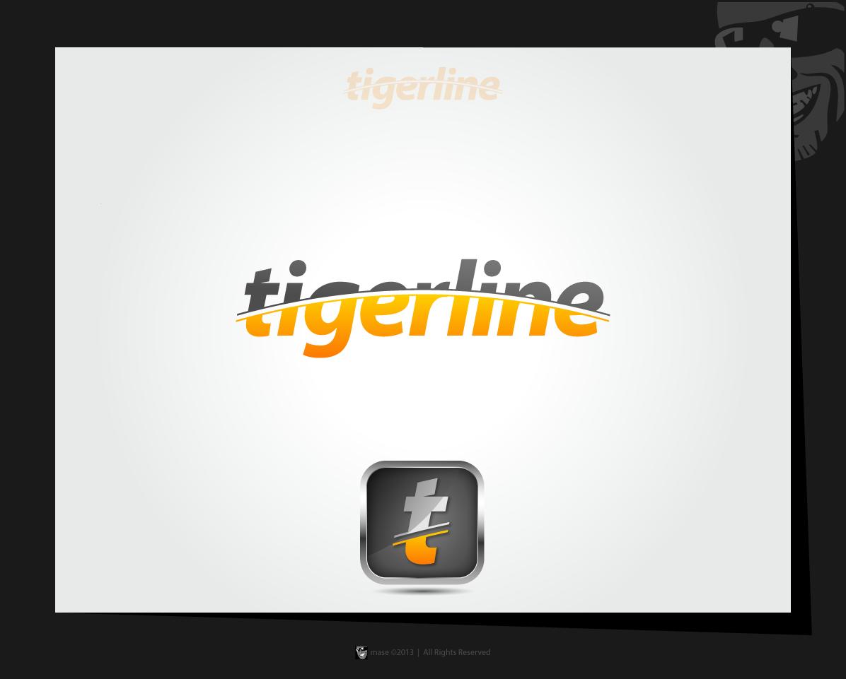Logo for golf app named 'Tigerline'