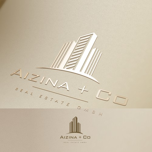 simple and luxury real estate logo