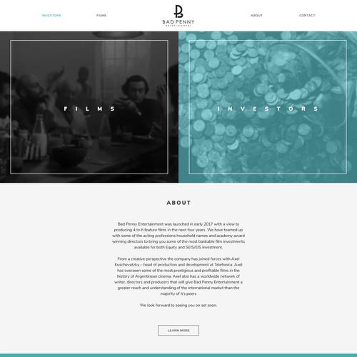 Film Landing Page