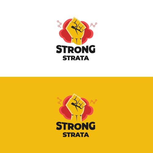 Logo concept for strong strata