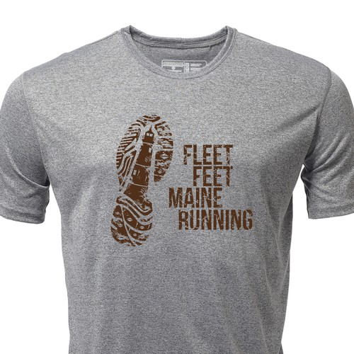 Maine Themed Running Shirt Graphics