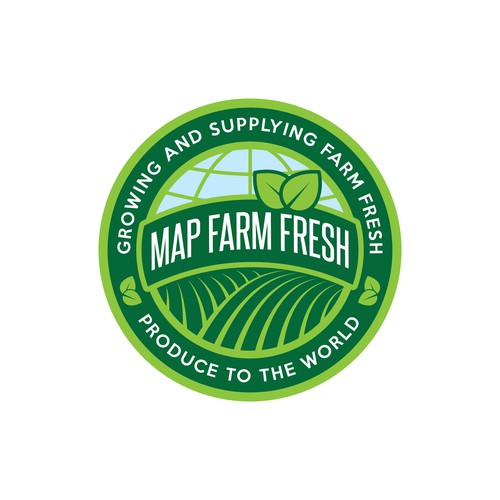 create a logo that potrays clean safe fresh fruits & vegetable quality products for overseas markets