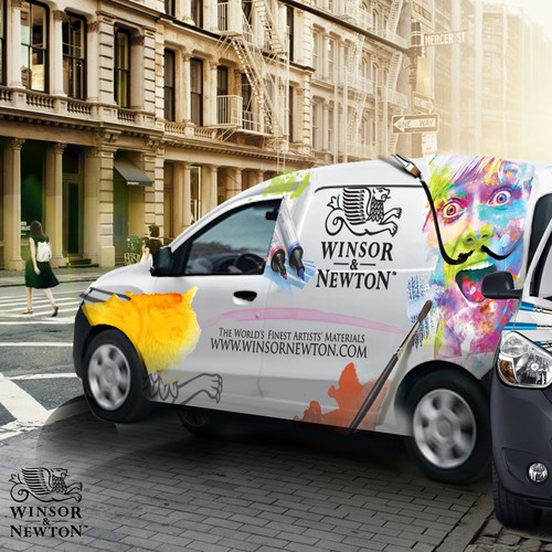 Car/Van Dacia Dokker Wrapping for Winsor & Newton Art/Paint Company