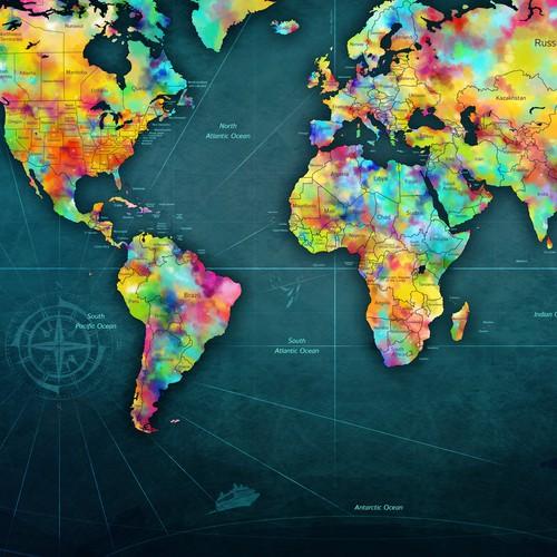 World Scratch Off Map Design