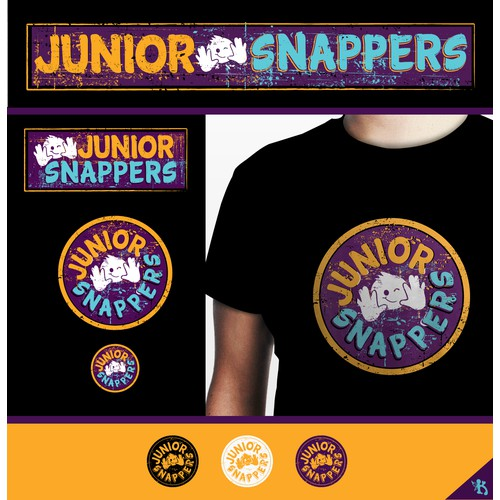 Fun, eye-catching logo for Junior Snappers