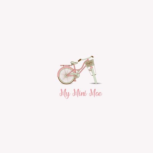 vintage edgy fun playful let your imagination fly for a baby and kids products logo