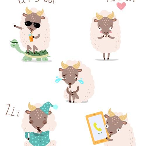 Goat Stiker