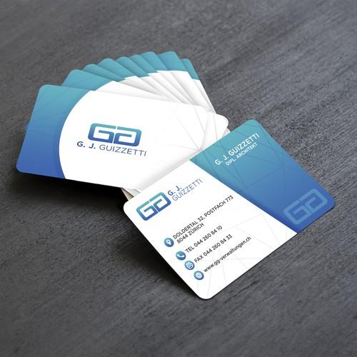 GG - Vistitenkarte und Briefpapier Business Card