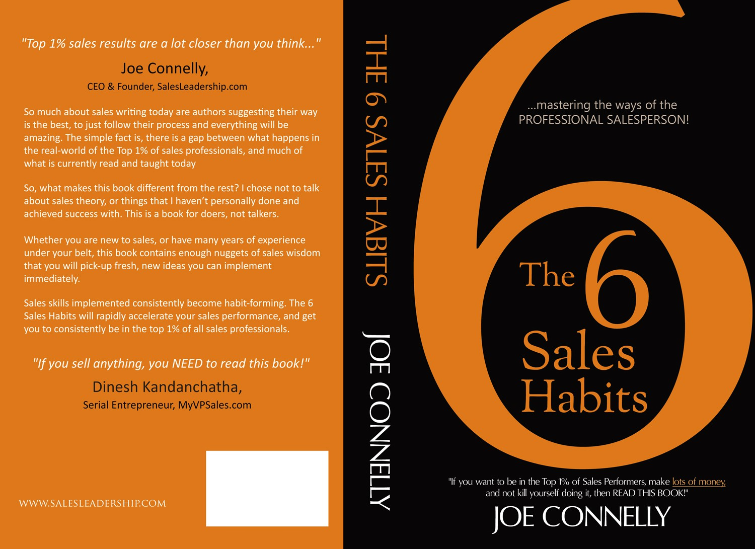 """Create a modern, fresh and brilliant book cover for """"The 6 Sales Habits"""""""