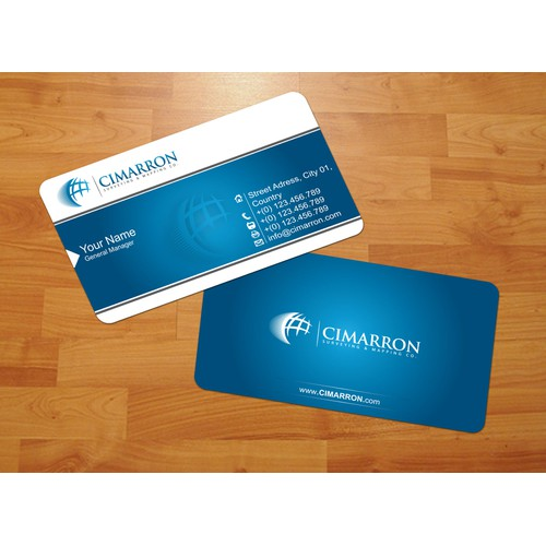 stationery for Cimarron Surveying & Mapping Co., Inc.