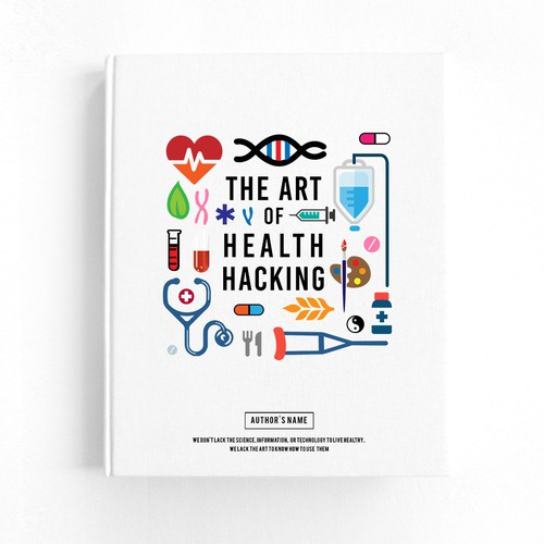 Health Hack info graphic concept cover