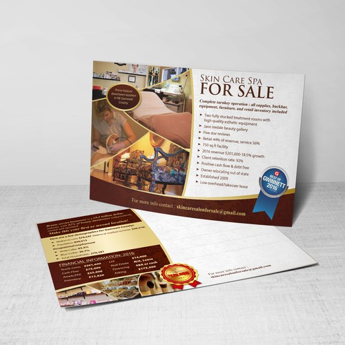 Skin Care Spa For Sale Postcard Design