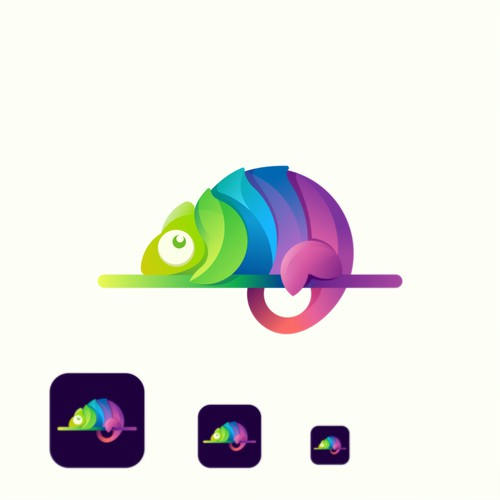 colorful chameleon logo