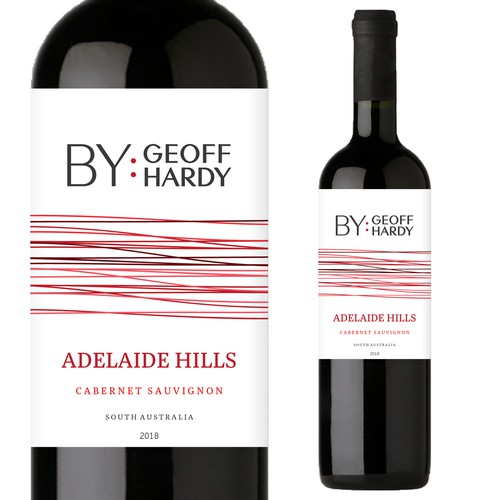 Clean and striking wine label