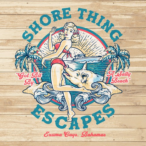 T_shirt Design for Shore Thing Escapes