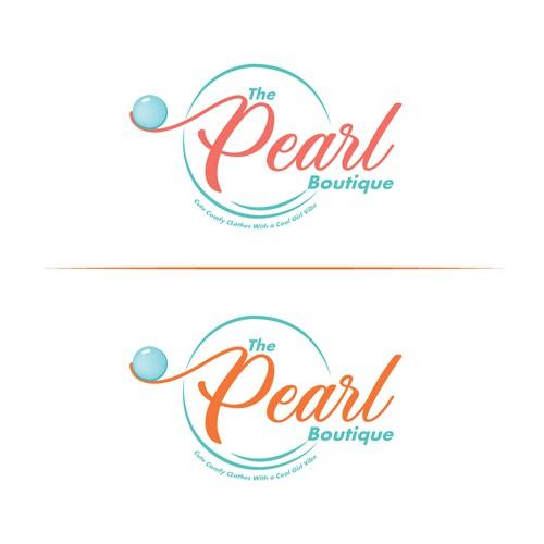 """Modern logo concept for fashion E-commerce Company """" The Pearl Boutique """""""