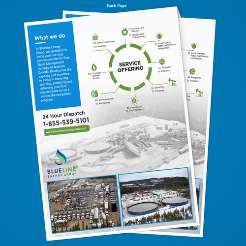 Brochure for a cutting edge energy service company.