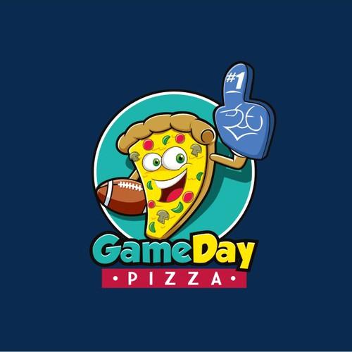 Fun logo for sports and arcade pizzeria