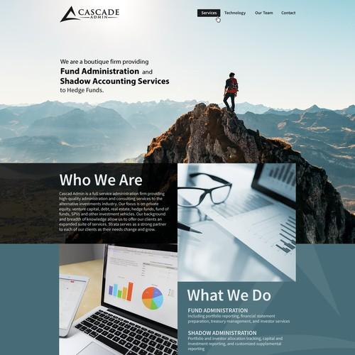 website Design for boutique Hedge Fund Administrator