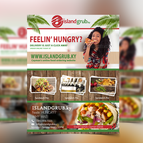 flyer design of Islandgrub
