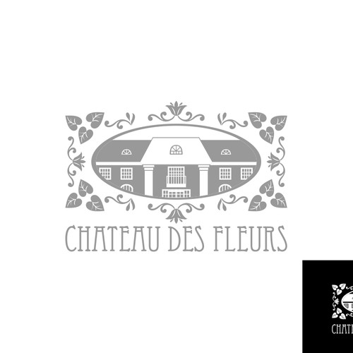 Create the Logo for the chateau des fleurs, the event center