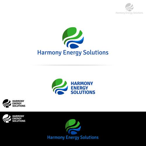 Awesome Harmony Energy Solutions Logo using harmonic waves imagery