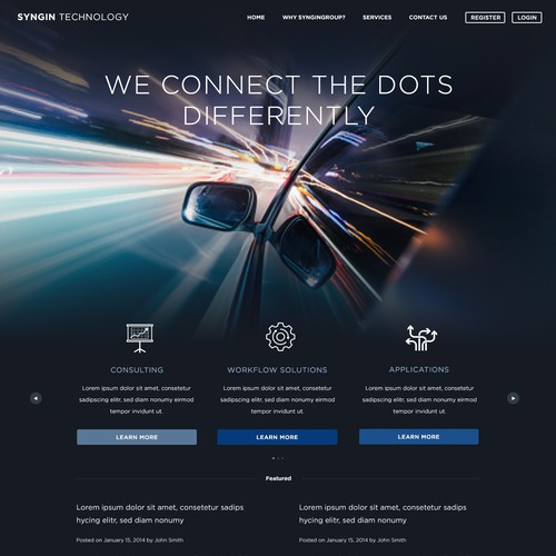 Landing Page & Web Design for Tech Company