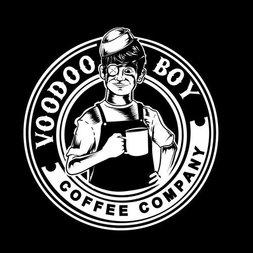 Voodoo boy coffee logo concept