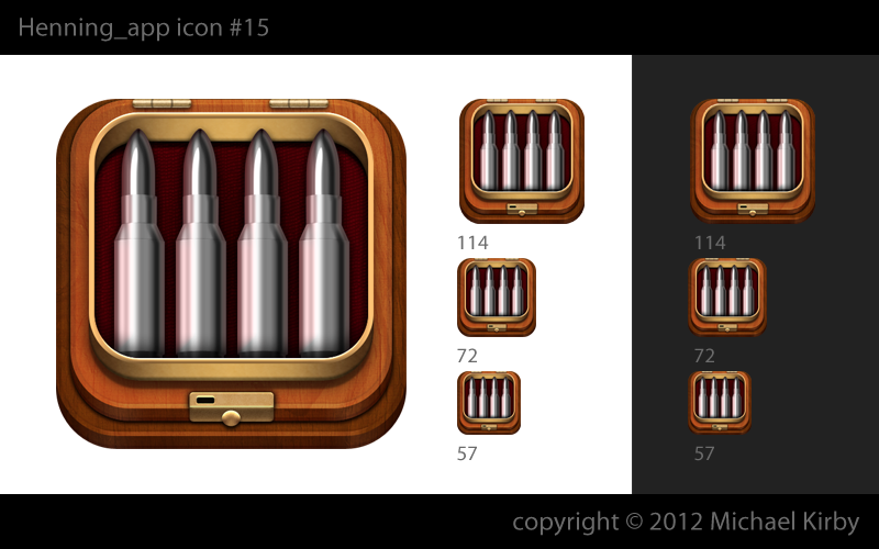 iPhone icon design for Henning