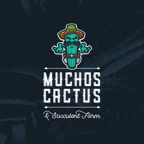Muchos Cactus logo concept