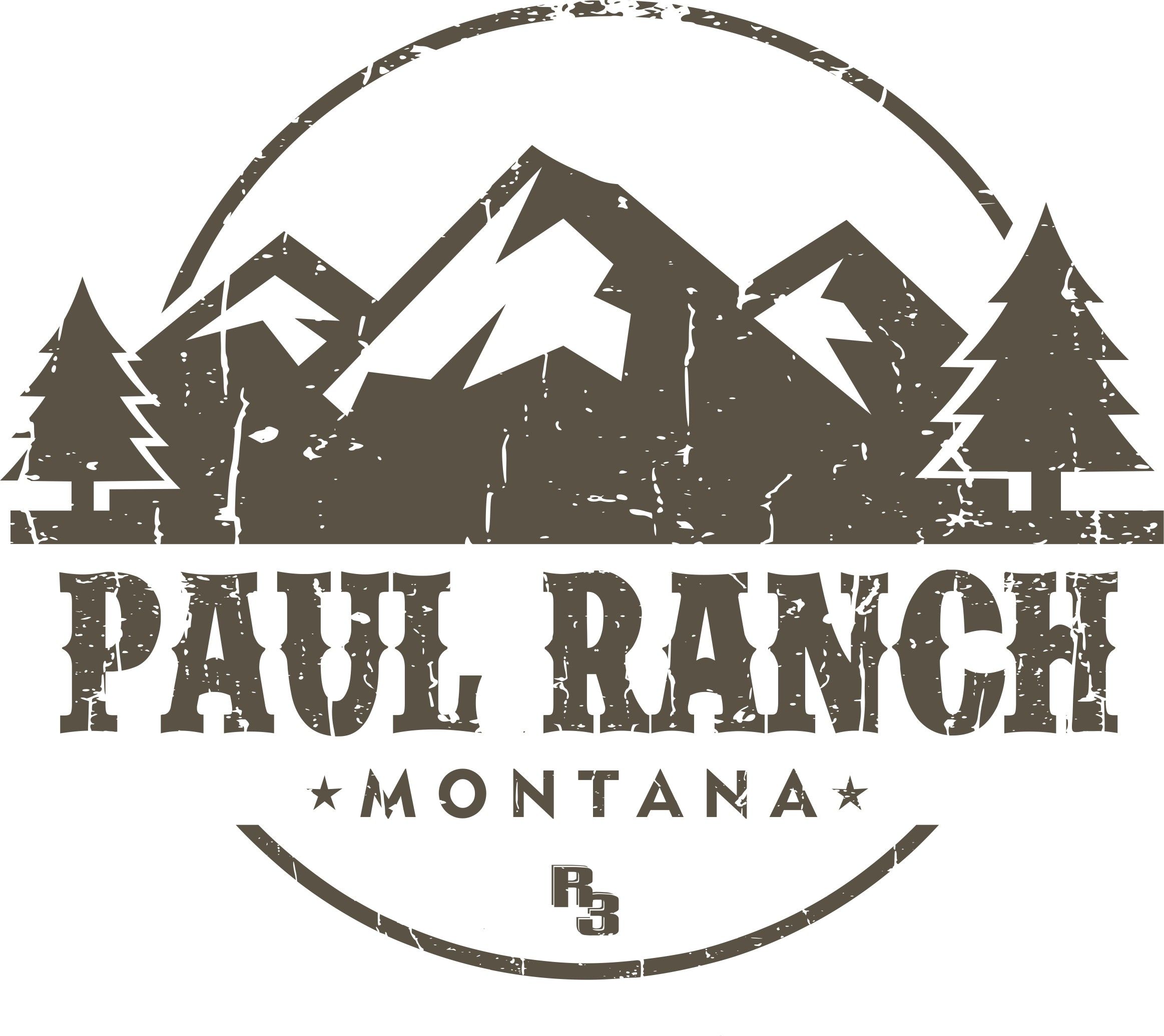 Create a logo for advertising and merchandising Paul Ranch Montana