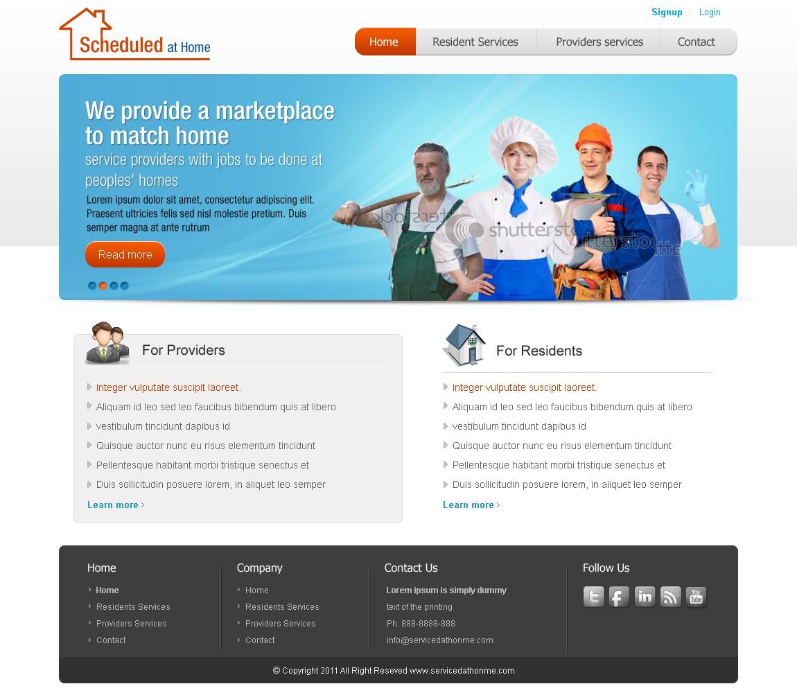 Scheduled at Home needs a new website design