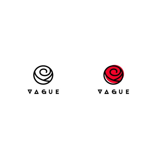 Bold logo for Vague streetwear