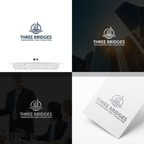 Logo design for Three Bridges Management and Consulting