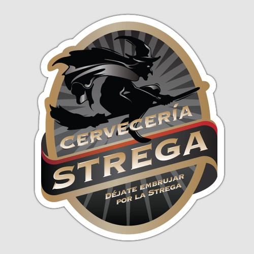 Logo & Label for Strega Brewing Company