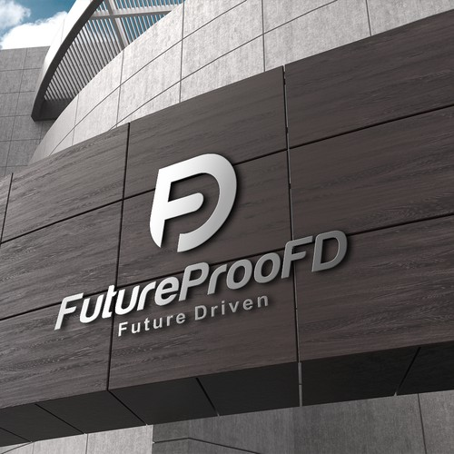 Create a Future-Proof logo (not a fad logo) for a consulting and technology firm in advertising