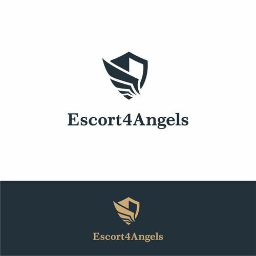 Logo concept for escort service Escort4Angels