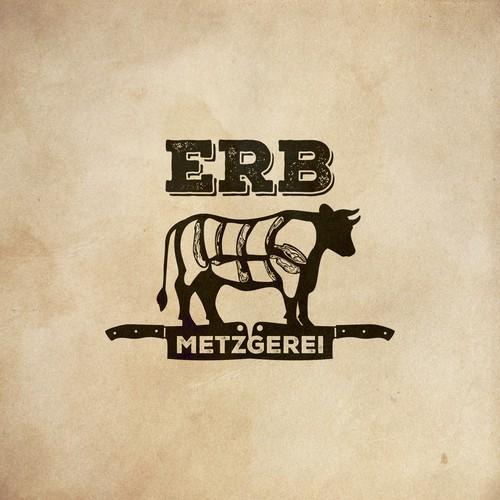 logo for a German butcher shop