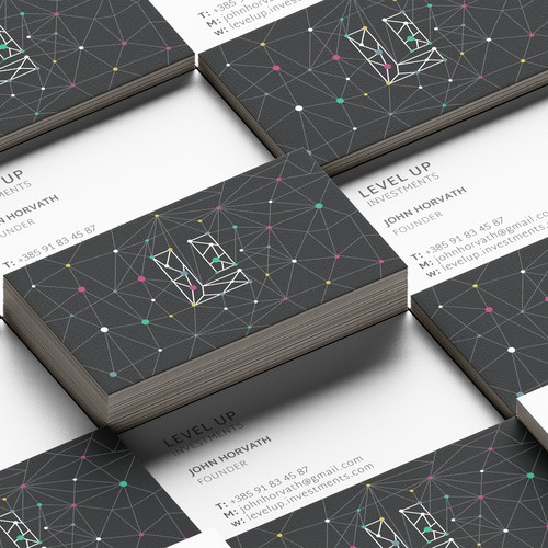 Mock up for business cards - Level Up Investments